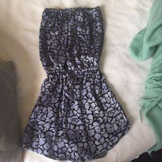 Strapless playsuit
