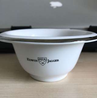 EDWIN JAGGER - PORCELAIN SHAVING BOWL, CHROME RIM