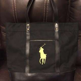 Ralph Lauren Polo Tote Bag (同agnès b. 防水料雙拉鏈餃子袋一齊買$800)