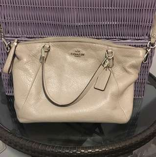 Real leather coach purse
