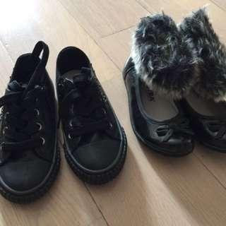 女孩便服及毛毛25號鞋
