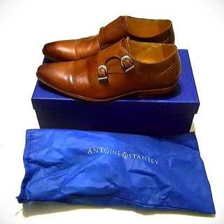 Antoine & Stanley's Stanley Tan Men's Monk Strap Dress Shoes