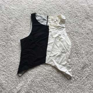 Black and White Singlet