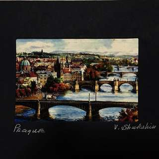 Hand-painted Postcard (from Prague)
