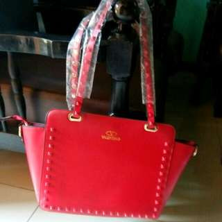 Reprice VALENTINO studed mirror in red