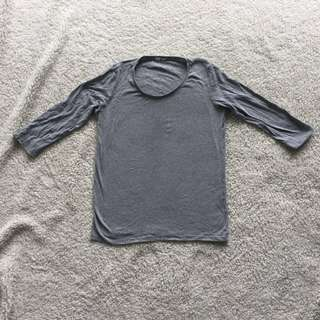 UNI QLO GREY TOP