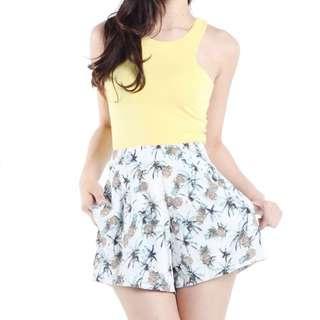 TTR Pina Colada Pineapple Shorts XS