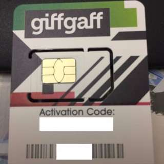 UK Giffgaff SIM Card 3G / 4G / LTE Operated by O2