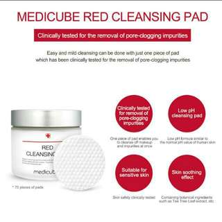 Instock - Medicube Red Cleansing Pad - 70pads