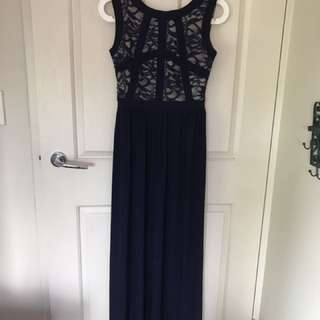 Navy lace night gown