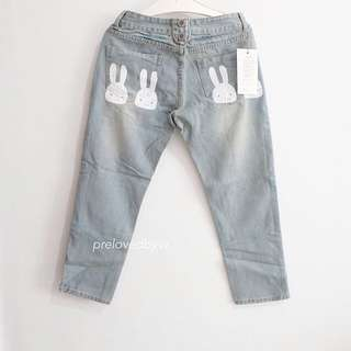 Overall Bunny Jeans
