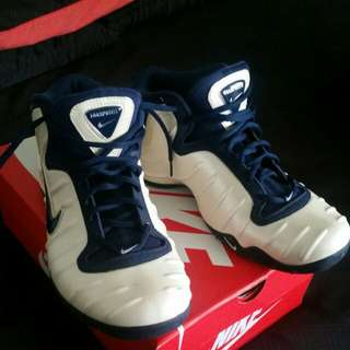 2002 NIKE AIR PURPOSITE TB FOAMPOSITE WHITE NAVY BLUE SILVER 304790-142 US 10 UK 9 EUR 44 CM 28 ONLY WORN ONCE