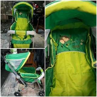 approva green stroller