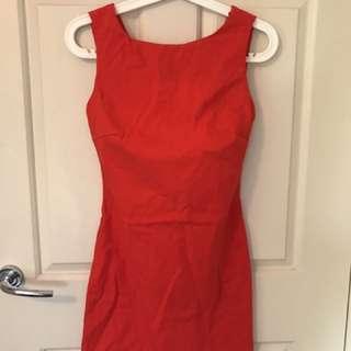 Red zara dress Au 8