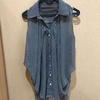 Stripes sleeveless shirt
