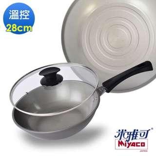 【米雅可】奈米溫控瓷化平炒鍋(28cm)