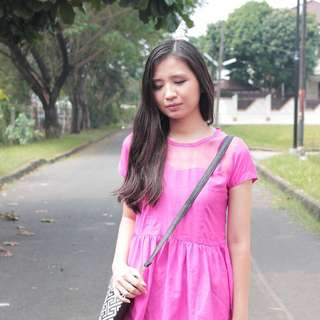 Peplum pink