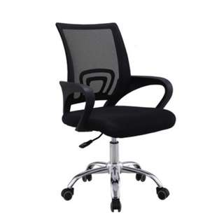 Simple and Neat Office Chair Black (Swivel)