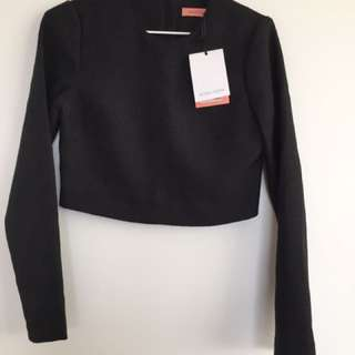 BNWT Rodeo Show Long Sleeve Crop Top Size 6