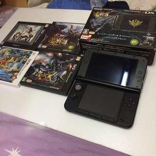 3DS MH4特別版 連MHXX(特典未開)連4隻GAME