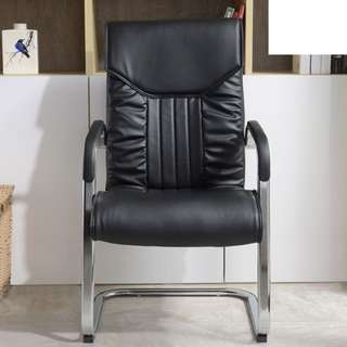 Simple and Neat Office Chair Tall Black (Non-swivel)