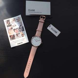 Cluse La Boheme Rose Gold & Soft Pink Leather Watch