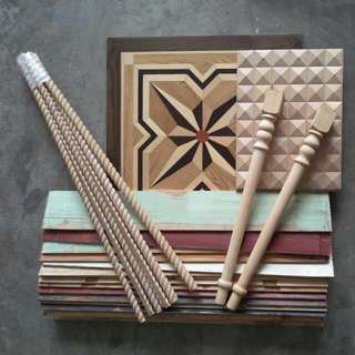 Assorted DIY Wooden Finishings
