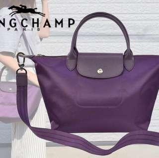 Longchamp bag bilberry purple (medium)