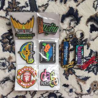 Bandung Magnets + Keychains