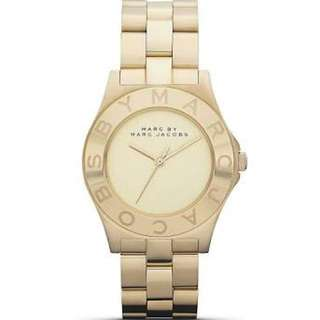 Marc Jacobs gold watch