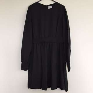 Hi There By Karen Walker Black Silk Long Sleeve Dress Size 8