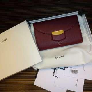 全新正貨Celine小牛皮銀包