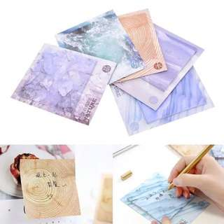 Sticky Notes Post It with Natural Print