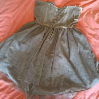 Tigerlily dress size 12 mouse grey velvet and tulle