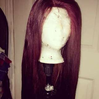 Human hair bundles with closure wig