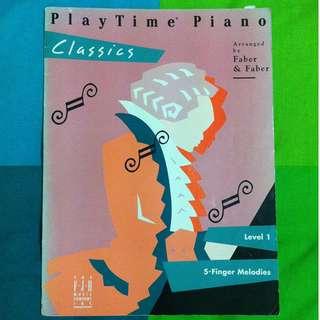 PlayTime Piano Classics Score Book Music Sheet