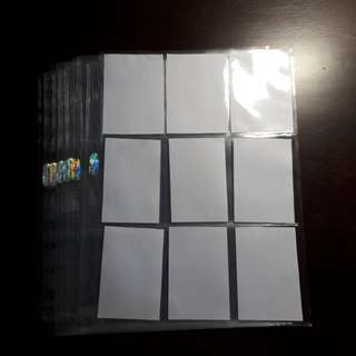 Pocket sleeves for photocard