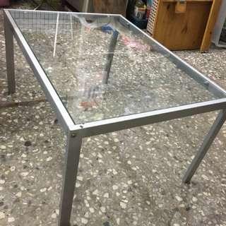可收納玻璃桌