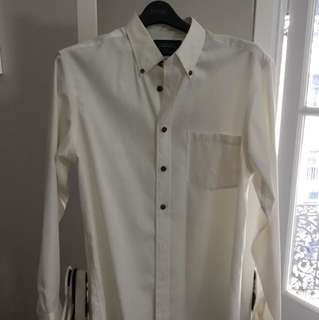 Charles Tyrwhitt cream formal shirt