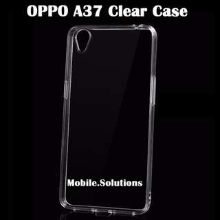 OPPO ★ A37 ★ Clear / Transparent TPU Case (Anti Water Marks)
