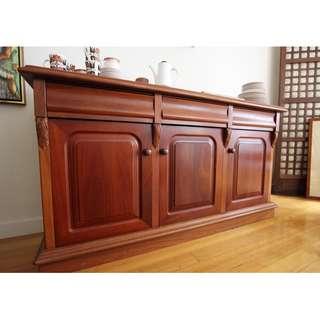 Western Australian Jarrah Solid Hardwood Sideboard / Buffet