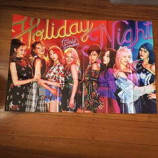 SNSD Holiday Night Official Poster (Folded)