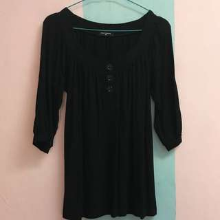 NEW Black Longsleeve Blouse Stretch