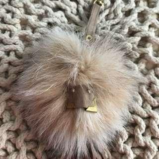 New Soft Cute Fox Fur And Leather Original Pom Pom Ball Fox Keychain Pendant Handbag