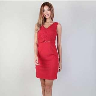 mgplabel | valentina sheath dress (red)