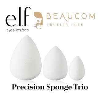 NEW AUTHENTIC INSTOCK ELF Precision Sponge Trio Makeup Applicator