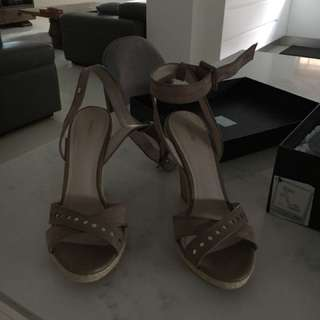 Mimco ankle strap wedge