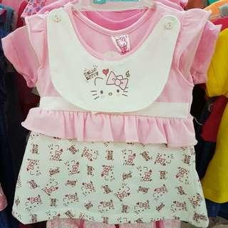 Hello Kitty Baby Dress with bib set