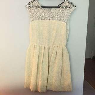 Zara sunny yellow crotchet dress