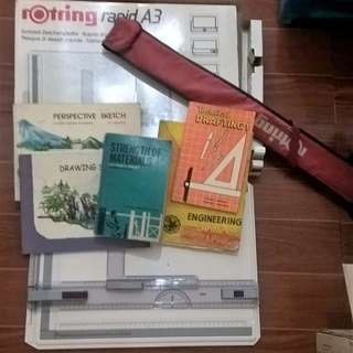 ROTRING AND DRAFTING DESIGN BOOKS ALL IN! FREE SF